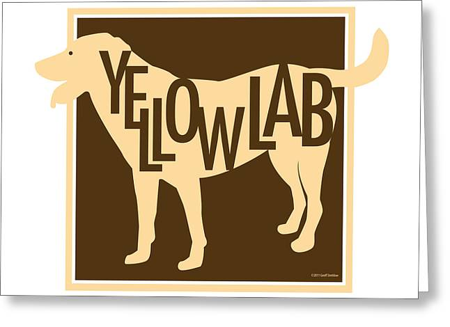 Chocolate Lab Greeting Cards - Yellow Lab Greeting Card by Geoff Strehlow