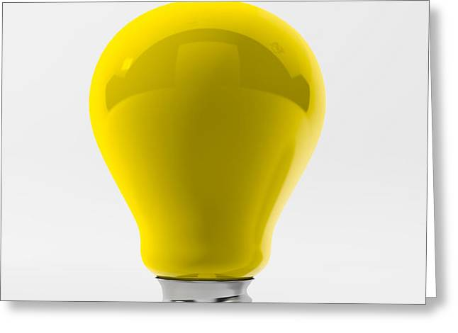 Yellow Lamp Greeting Card by BaloOm Studios