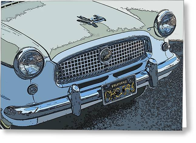 Samuel Sheats Greeting Cards - Yellow Nash Metropolitan Series III Nose Study Greeting Card by Samuel Sheats