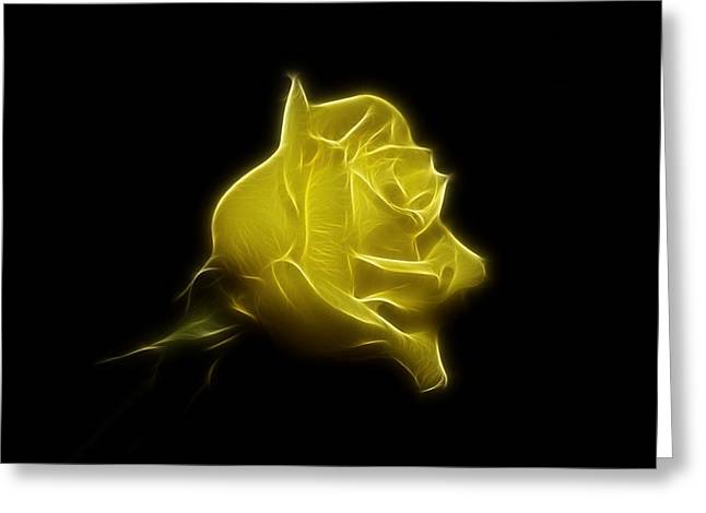 Indiana Flowers Greeting Cards - Yellow Rose Greeting Card by Sandy Keeton
