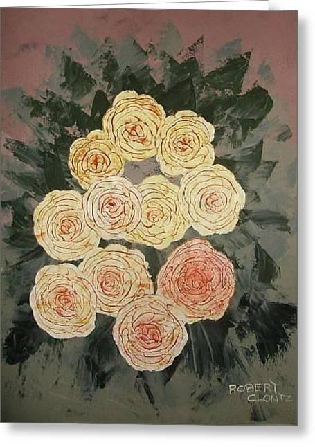 Yellow Roses II Greeting Card by Anne-Elizabeth Whiteway