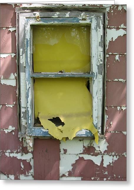 Yellow Shade Greeting Card by Todd Sherlock