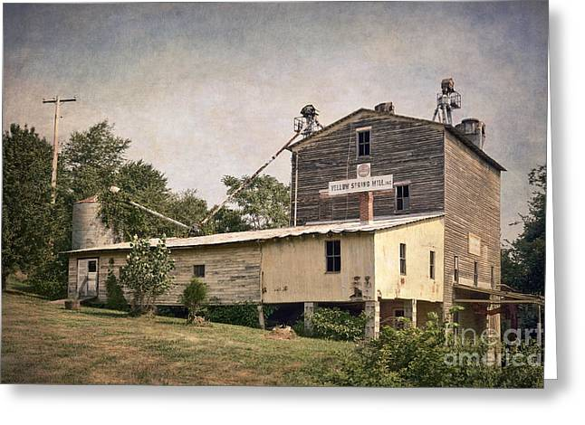 Abandoned Mill Greeting Cards - Yellow Spring Mill Greeting Card by Susan Isakson