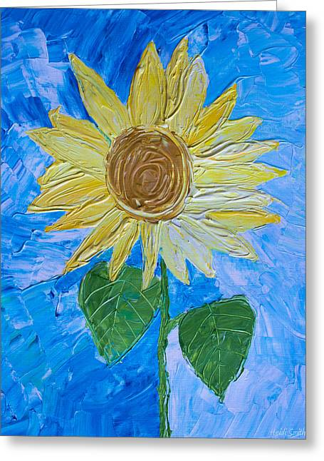 Sienna Greeting Cards - Yellow Sunshine Greeting Card by Heidi Smith