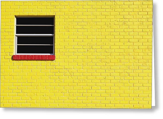 Skip Nall Greeting Cards - Yellow Wall 2 Greeting Card by Skip Nall