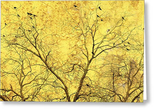 Science Fiction Art Greeting Cards - Yellow Wall Greeting Card by Skip Nall