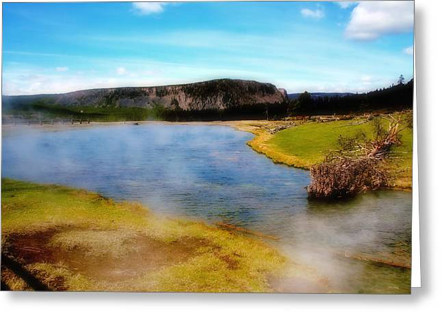 Yellowstone Landscape Greeting Card by Ellen Heaverlo
