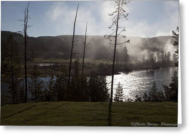 Yellowstone Morning Greeting Card by Charles Warren