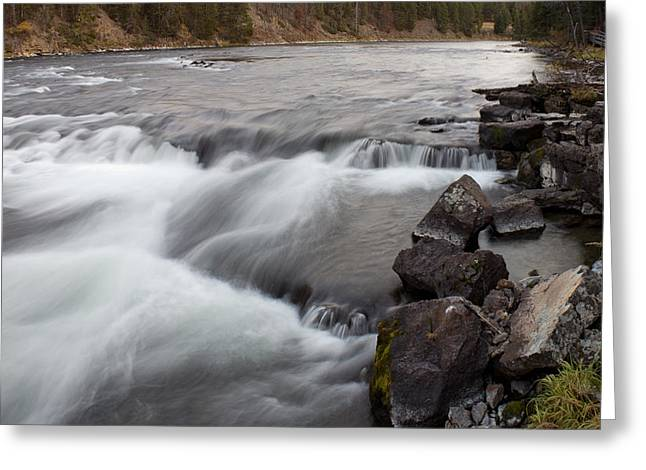 Fishing Creek Greeting Cards - Yellowstone River Rapids Greeting Card by Twenty Two North Photography