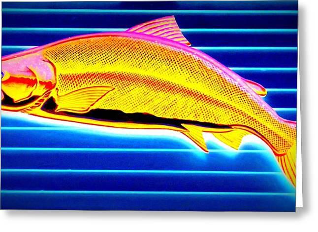 Fish Digital Art Greeting Cards - Yellowtail Greeting Card by Randall Weidner