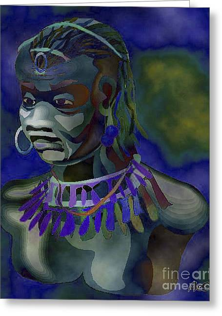 Orishas Greeting Cards - Yemaya  Greeting Card by Liz Loz