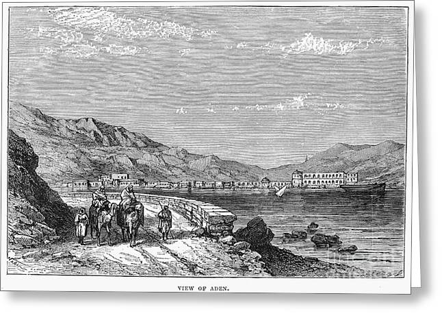 Camelback Mountain Greeting Cards - YEMEN: ADEN, c1880 Greeting Card by Granger