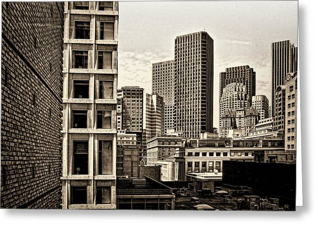 Downtown San Francisco Greeting Cards - Yerba Buena Area Skyline Greeting Card by Andre Salvador