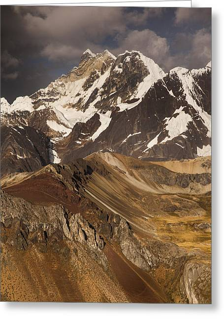 Mountain Scenery Greeting Cards - Yerupaja Chico 6121m In Cordillera Greeting Card by Colin Monteath