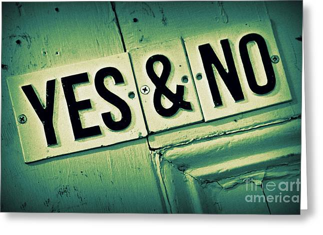 Yes And No 2 Greeting Card by Perry Webster