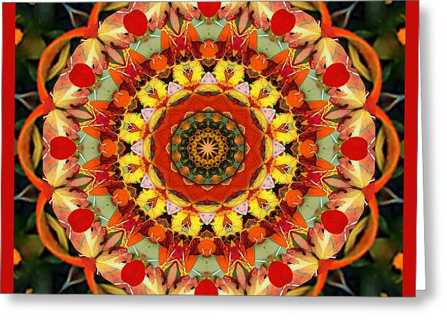 Red Chakra Greeting Cards - Yes Greeting Card by Bell And Todd