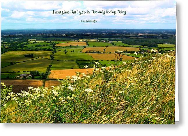 Motivational Poster Greeting Cards - Yes is the Only Living Thing Greeting Card by Jen White