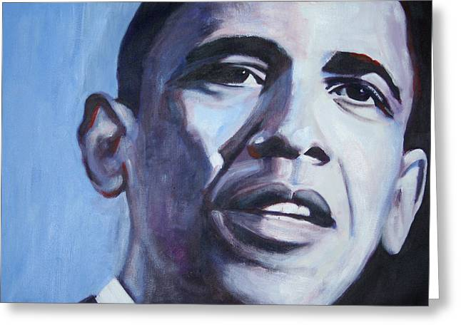 President Obama Greeting Cards - Yes We Can Greeting Card by Fiona Jack