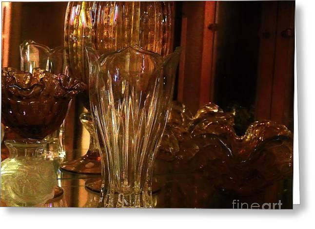Yesturdays Glass Collection Greeting Card by Marsha Heiken