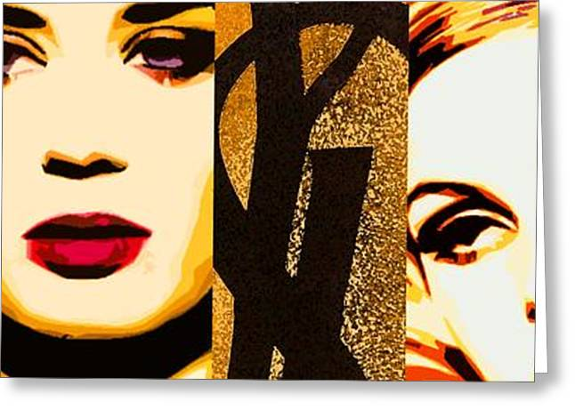 Twiggy Greeting Cards - YLS Retrospective  Greeting Card by Lelia DeMello