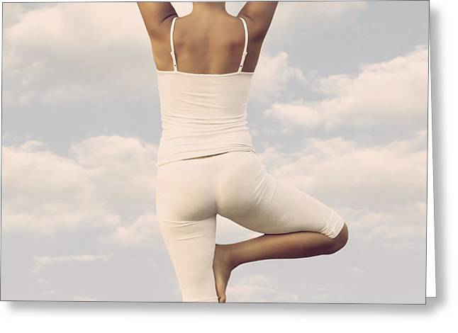 Yoga Greeting Card by Joana Kruse