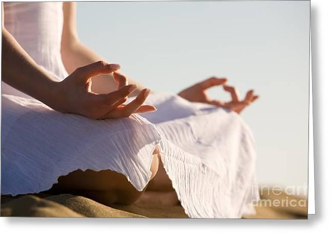 Zen-like Greeting Cards - Yoga Greeting Card by Kati Molin