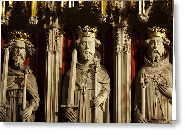 Minster Abbey Greeting Cards - York Minsters Choir Screen Greeting Card by Bronze Riser