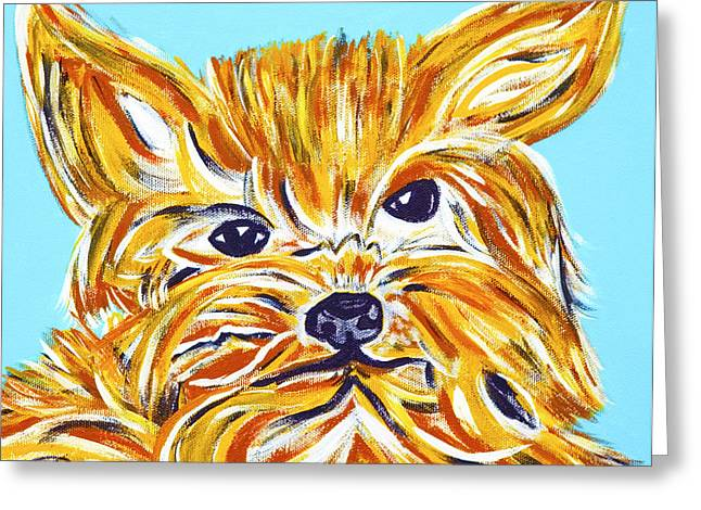 Modern Online Marketing Greeting Cards - Yorki Love Greeting Card by Artista Elisabet