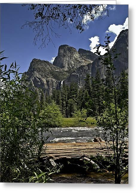 Catherdral Greeting Cards - Yosemite Cathedral Peak Greeting Card by LeeAnn McLaneGoetz McLaneGoetzStudioLLCcom