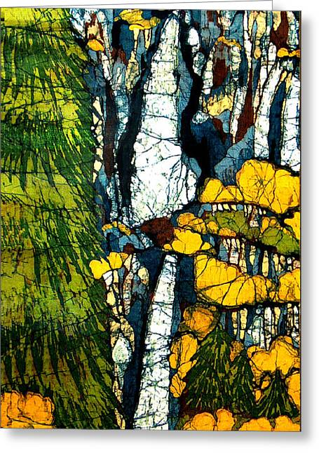 Lady Tapestries - Textiles Greeting Cards - Yosemite Falls Greeting Card by Alexandra  Sanders