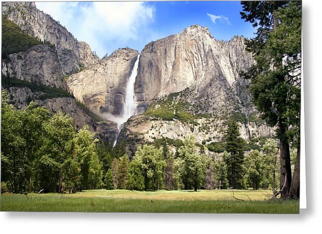 Myeress Greeting Cards - Yosemite Falls Greeting Card by Joe Myeress