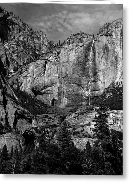 Yosemite Falls Greeting Card by Troy Montemayor