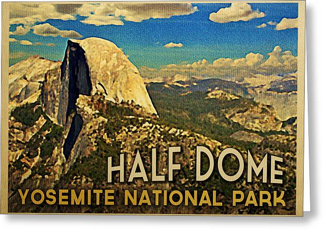 Yosemite National Park Greeting Cards - Yosemite Half Dome Greeting Card by Flo Karp