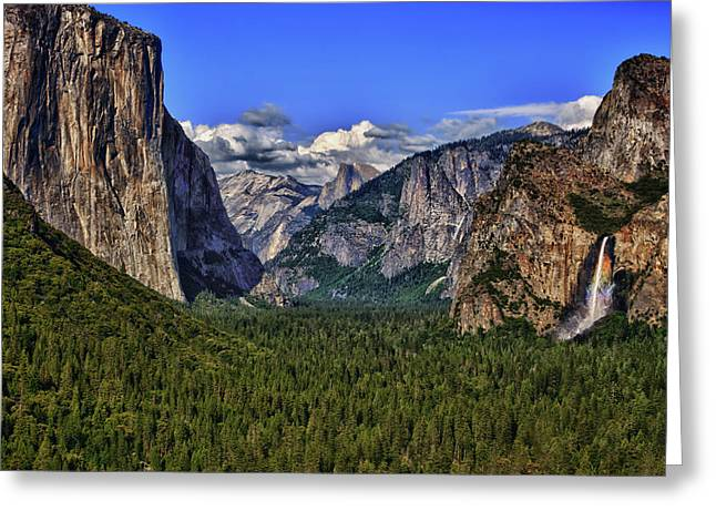 Hdr Landscape Greeting Cards - Yosemite Valley Greeting Card by Beth Sargent