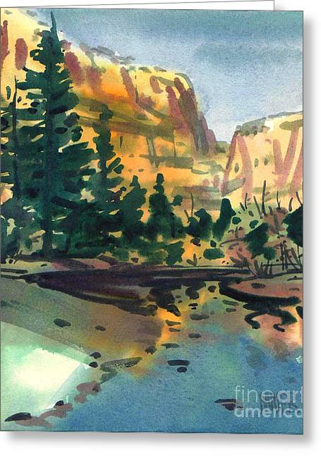 Yosemite Paintings Greeting Cards - Yosemite Valley in January Greeting Card by Donald Maier