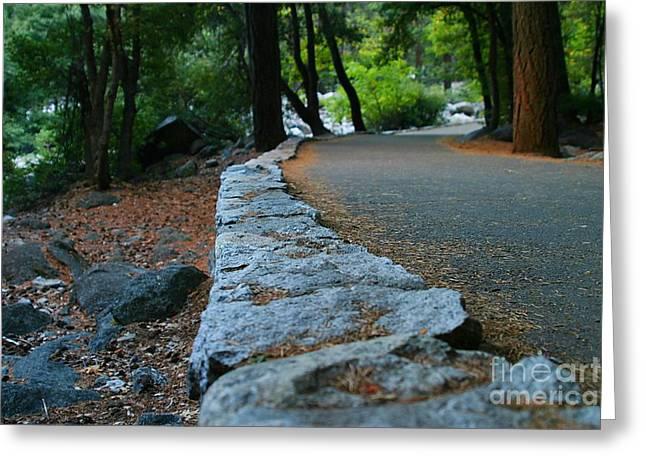 Yosemite Greeting Cards - Yosemite Walk Way Greeting Card by Henrik Lehnerer