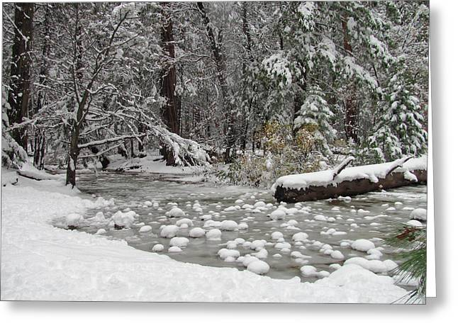 Wintry Photographs Greeting Cards - Yosemite Winter Greeting Card by Heidi Smith