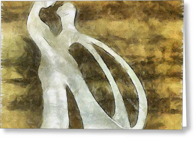 Husband Digital Art Greeting Cards - You And I 1 Greeting Card by Angelina Vick