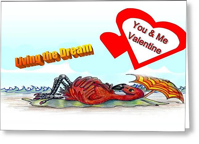 You And Me Valentine Greeting Card by Carol Allen Anfinsen