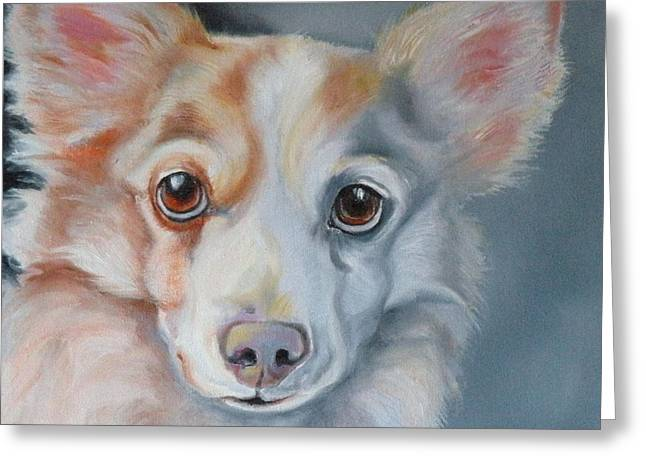 Puppies Drawings Greeting Cards - You Are All Mine Greeting Card by Susan A Becker