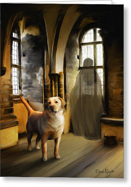 Ghost Castle Greeting Cards - You Are Always Safe With Me Greeting Card by Suni Roveto