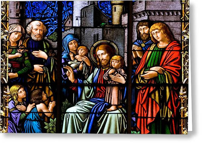 Child Jesus Greeting Cards - You Are Blessed Greeting Card by Marc Huebner