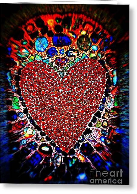 With Love Greeting Cards - You Are in My Heart My Valentine Greeting Card by Susanne Van Hulst