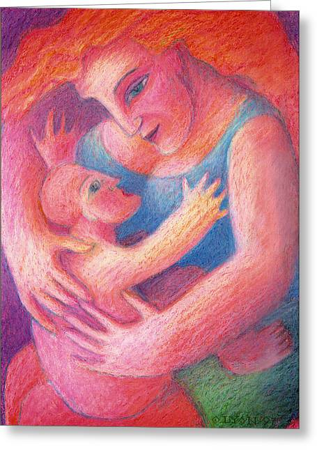 Soft Light Pastels Greeting Cards - You Are My Only One Greeting Card by Angela Treat Lyon