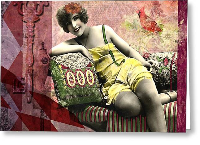You Don't Have to be Skinny to be Beautiful Greeting Card by Lynell Withers