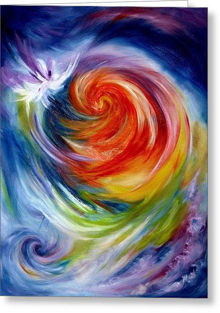 Wow Paintings Greeting Cards - You Had Your Chance Greeting Card by Melody Horton Karandjeff