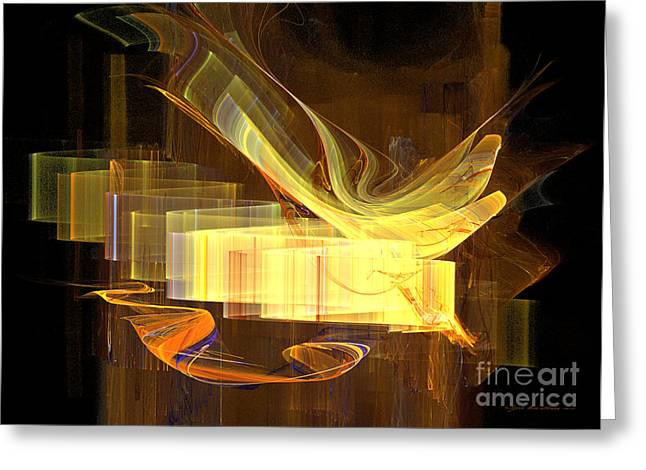Interior Still Life Mixed Media Greeting Cards - You have got a message - abstract art Greeting Card by Abstract art prints by Sipo