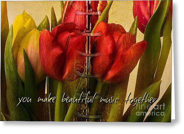 You make beautiful music together Greeting Card by Dania Reichmuth