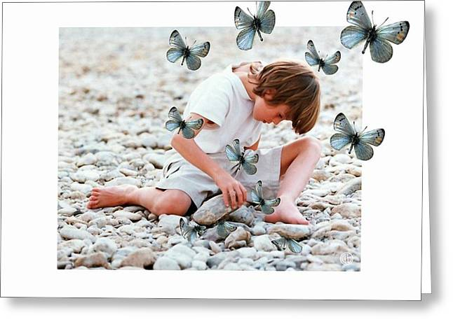 Buterfly Greeting Cards - You never know what a stone can hide Greeting Card by Gun Legler
