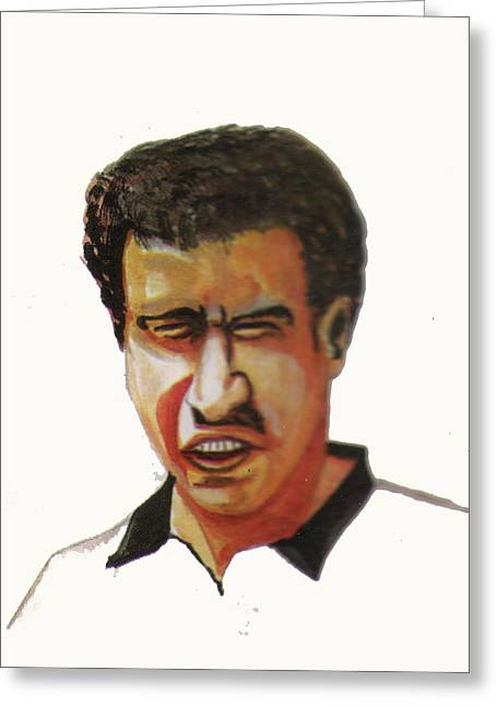 Rabat Drawings Greeting Cards - Younes El Aynaoui Greeting Card by Emmanuel Baliyanga